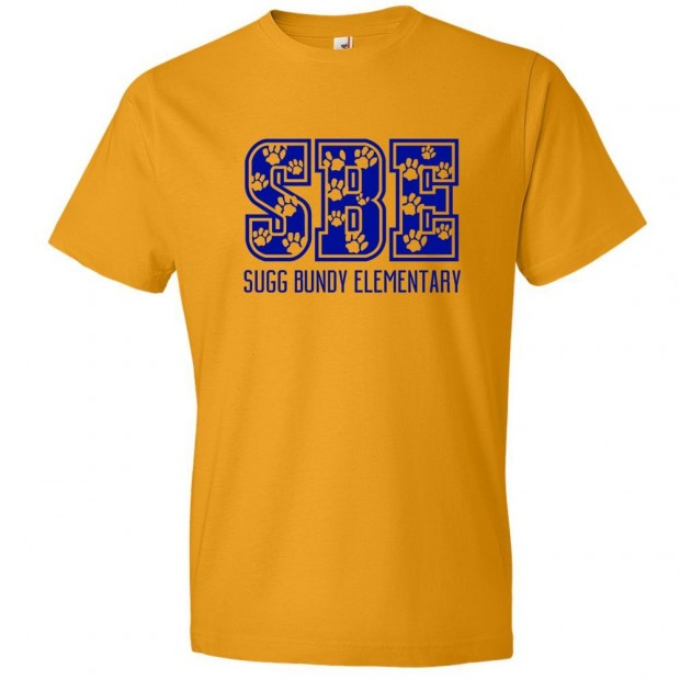 Sugg Bundy Elementary Cotton Tee | SBE Paws Logo | Multiple Colors