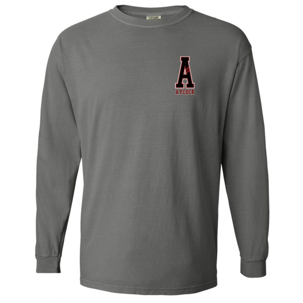 Aycock A Comfort Color Long Sleeve T-Shirt | Multiple Colors