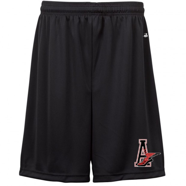 E B Aycock Track & Field / Cross Country Badger Black Solid Shorts