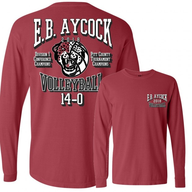 E.B. Aycock Volleyball Champions Comfort Colors Long-Sleeve Tee