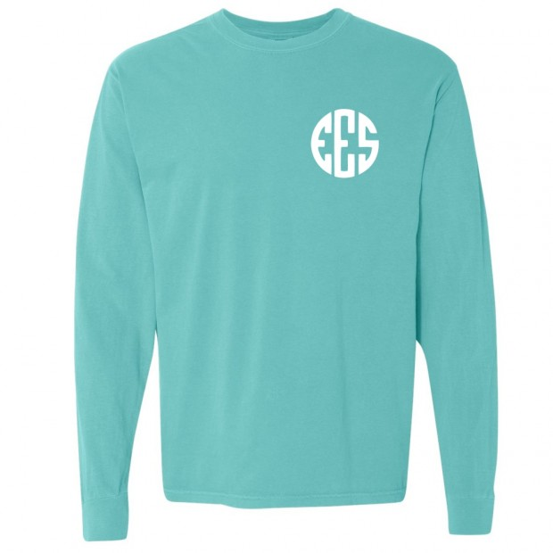 EES Monogram Style Comfort Color Long Sleeve T-Shirt | Multiple Colors