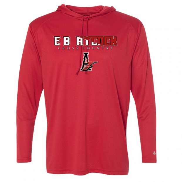 EB Aycock Cross Country Hooded Performance T-Shirt | Word Logo | Multiple Colors