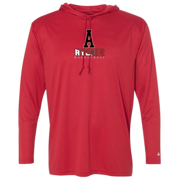 EB Aycock Boys Basketball Hooded Warm-Up T-Shirt | PLAYER REQUIRED