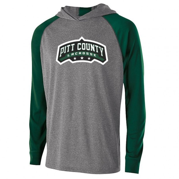 Pitt County Lacrosse Echo Hooded T-Shirt | Word Logo