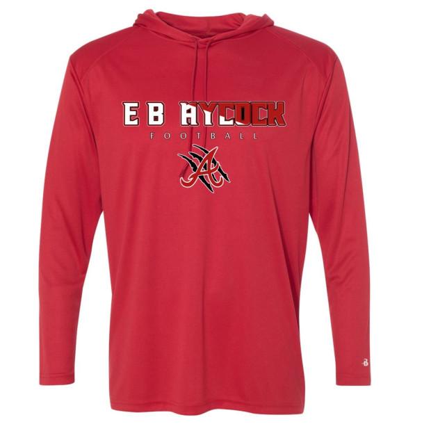 EB Aycock Football Hooded Performance T-Shirt | Word Logo