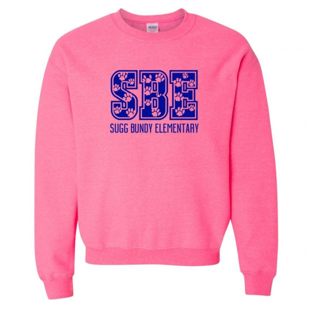 Sugg Bundy Elementary Sweatshirt | SBE Paws | Multiple Colors