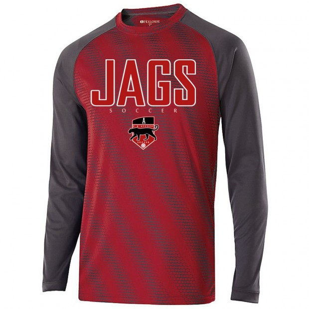 EB Aycock Soccer Long-Sleeve Torpedo Performance Tee | JAGS Logo | Multiple Colors