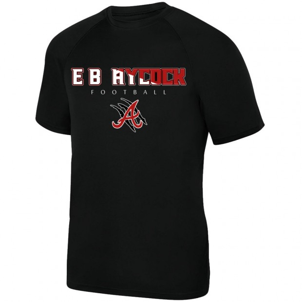 E B Aycock Football Short-Sleeve Performance Tee | Word Logo | Multiple Colors