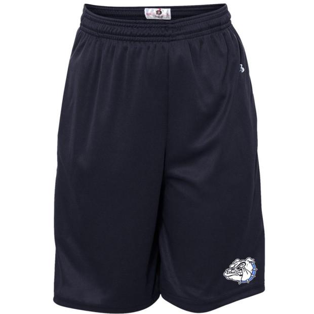 CM Eppes Bulldog Solid Shorts | Bulldog Head |  Multiple Colors