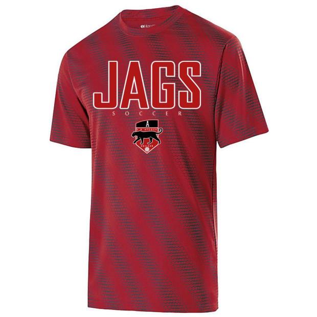 EB Aycock Soccer Short-Sleeve Torpedo Performance Tee | JAGS Logo | Multiple Colors
