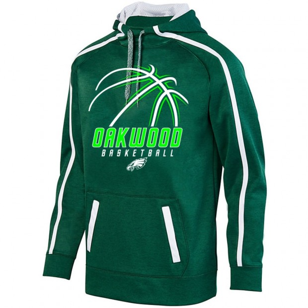 Oakwood Basketball Stoked Tonal Heather Performance Hoodie