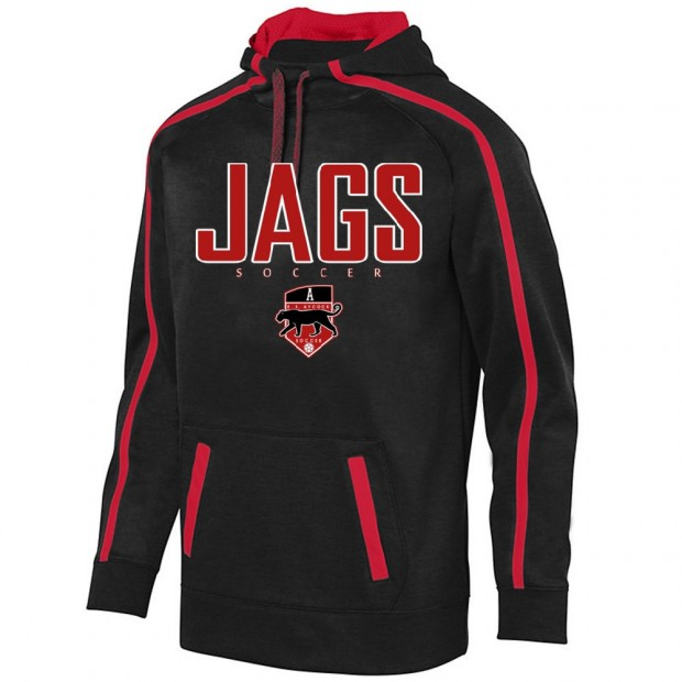 EB Aycock Soccer Stoked Tonal Heather Performance Hoodie | JAGS Logo | Youth & Adult Sizes