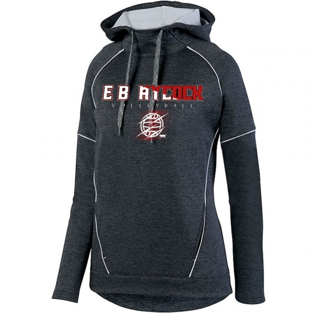 EB Aycock Volleyball Stoked Ladies Tonal Heather Performance Hoodie | Volleyball Word Logo