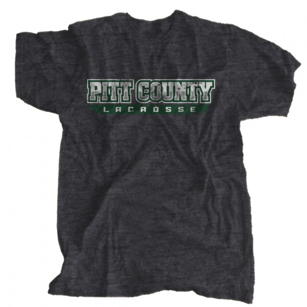 Vintage, Distressed Pitt County Lacrosse T-Shirt | Word Only Logo | Sizes for Whole Family