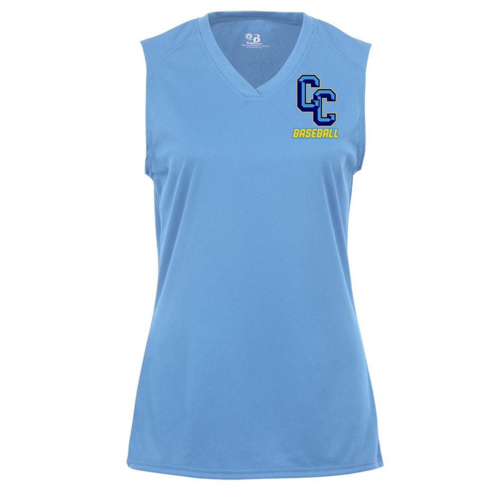 1470ea5baae4d C C Baseball Ladies Sleeveless V Neck Performance Tee