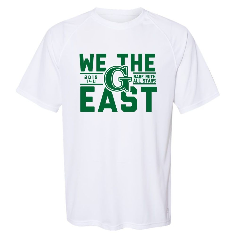 buy online e7ff4 df008 We The East   Performance T-Shirt   Full Front Print   14U Babe Ruth  Greenville All-Stars