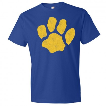 Sugg Bundy Elementary Cotton Tee | Distressed Paw Logo | Multiple Colors