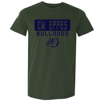 CM Eppes Cotton Tee | Stencil Design | Multiple Colors