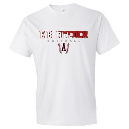 E. B. Aycock Softball Cotton Tee | Softball Word Logo | Multiple Colors