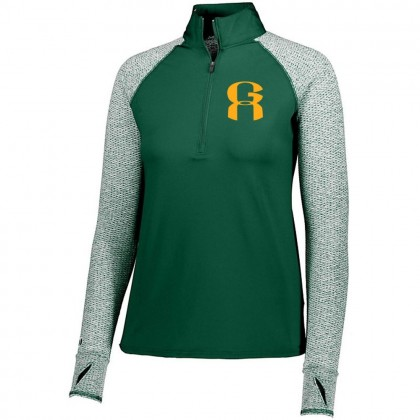 GA Ladies 1/2 ZIP Long-Sleeve Raglan Performance Tee