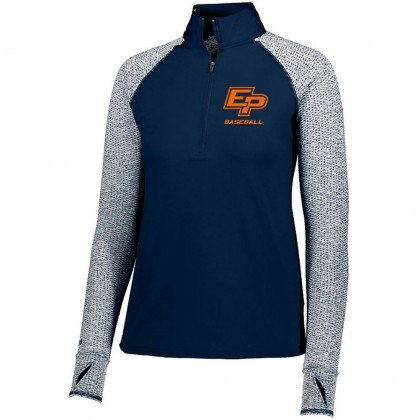 Eastern Plumbing Ladies 1/2 ZIP Long-Sleeve Raglan Performance Tee