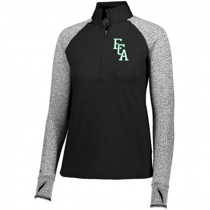 EC Auto Ladies 1/2 ZIP Long-Sleeve Raglan Performance Tee