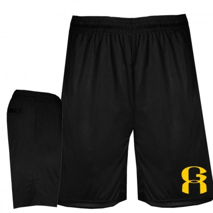 Greenville A's Black Solid Shorts
