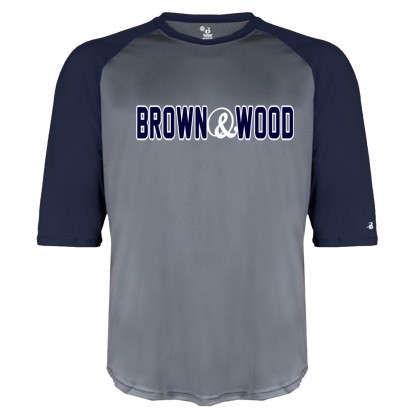 Brown & Wood Raglan Performance Tee