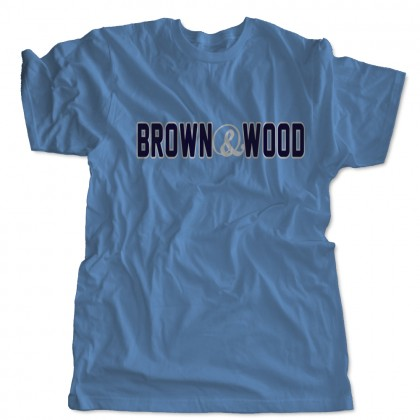 Brown & Wood Word Logo Cotton Tee