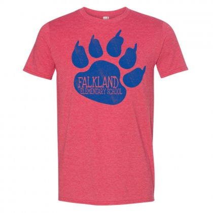 Falkland Elementary Cotton Tee | Bear Claw Logo | Multiple Colors