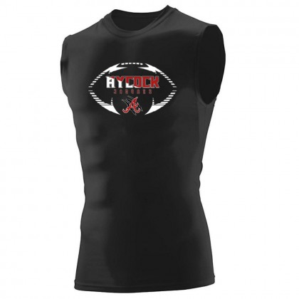 E B Aycock Football Hyperform Sleeveless Compression Shirt | Football Logo