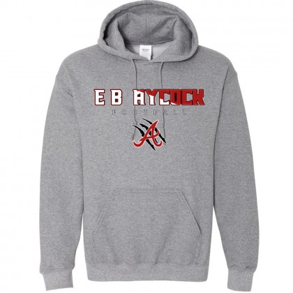 EB Aycock Football Cotton Hooded Sweatshirt | Word Logo