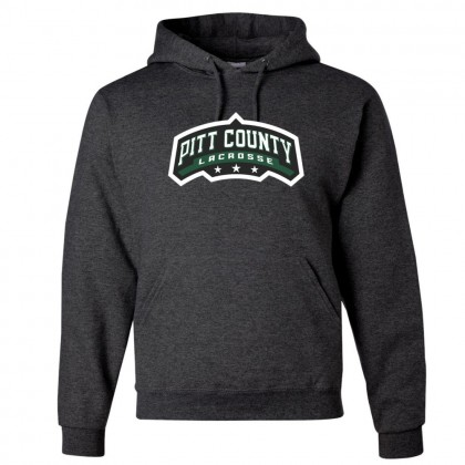 Pitt County Lacrosse Cotton Hooded Sweatshirt | Word Logo | Multiple Colors