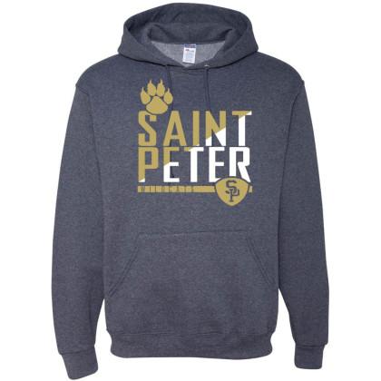 Saint Peter Wildcats Cotton Hooded Sweatshirt