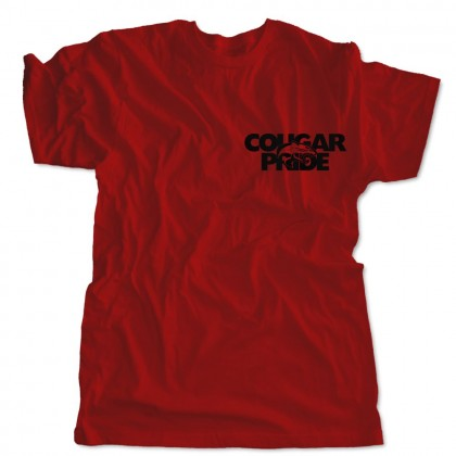 GR Whitfield Cougar Pride Cotton T-Shirt   Red   Chest Logo