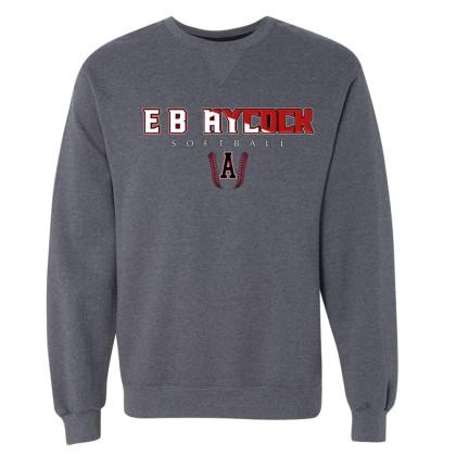 EB Aycock Softball Crewneck Sweatshirt | Word Logo