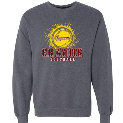 EB Aycock Softball Crewneck Sweatshirt | Softball Logo