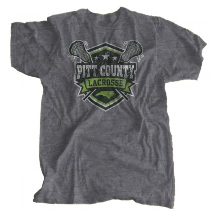 Vintage, Distressed Pitt County Lacrosse T-Shirt | Sizes for Whole Family