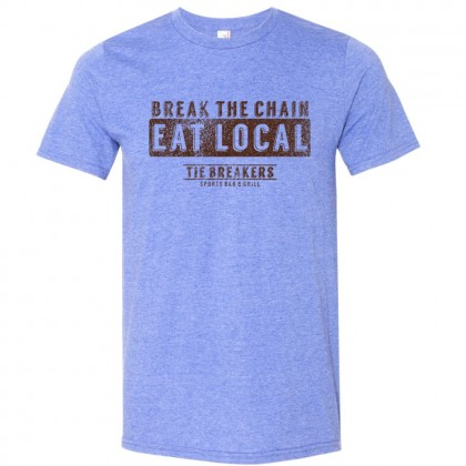 Break the Chain Tie Breakers Logo Tee   Size for Whole Family