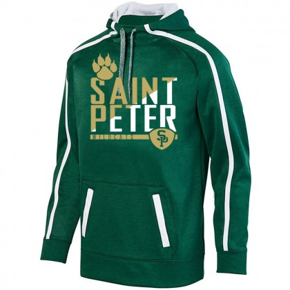 Saint Peter Wildcats Stoked Tonal Heather Performance Hoodie