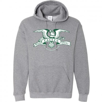 2018 Eagles Soar Cotton Hooded Sweatshirt | Heather Grey