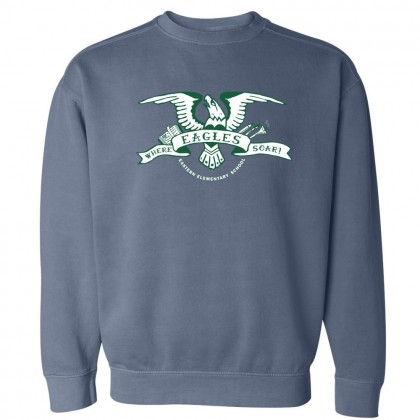 2018 Eagles Soar Comfort Colors Sweatshirt | Blue Jean