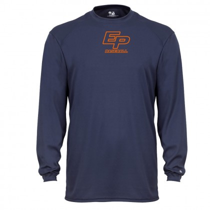 Eastern Plumbing Long-Sleeve Performance Tee | Center Small Logo