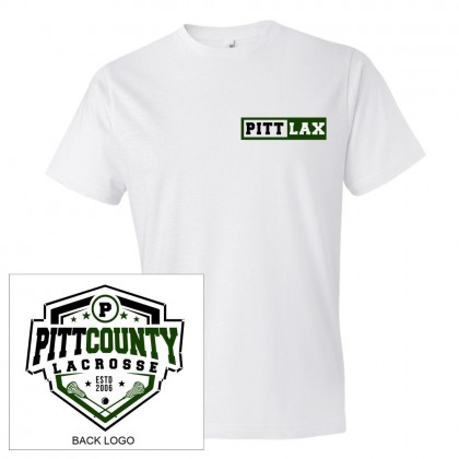 af6fd2ab5 New Pitt County Lacrosse Cotton T-Shirt | Chest & Back Print | Sizes for  Whole