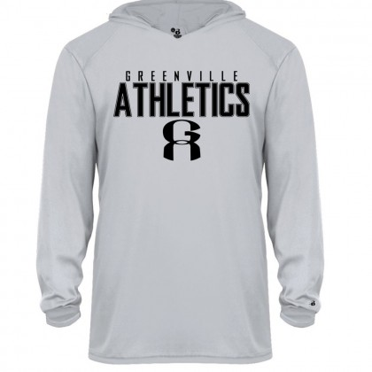 GA Long-Sleeve Hoodie Performance Tee | Word Logo