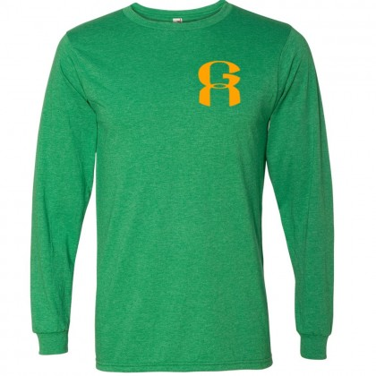 GA Long-Sleeve Heathered Cotton Tee