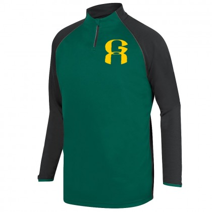 GA 1/4 ZIP Long-Sleeve Raglan Performance Tee