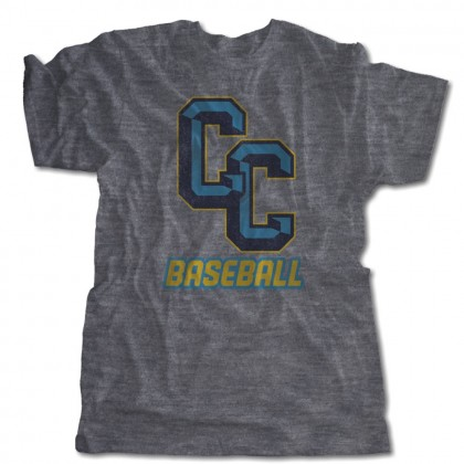 C&C Baseball Distressed Logo Tee | USA Made Tee | Sizes For Whole Family
