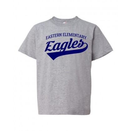 Eastern Elementary Script Cotton Tee | Heather Grey