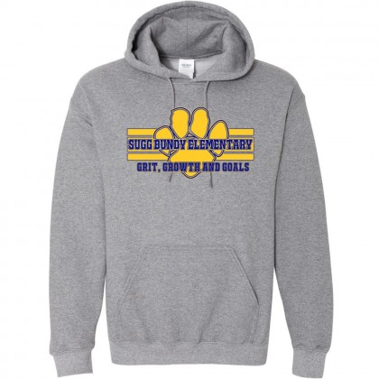 Sugg Bundy Elementary Cotton Hooded Sweatshirt | Grit Design | Grey